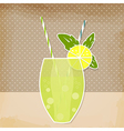 Cocktail lemon lime background vector image