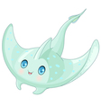 Cute Stingray vector image