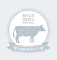 Farm shop cow milk Diagram and Design Elements in vector image