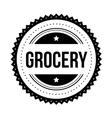 Grocery vintage stamp vector image