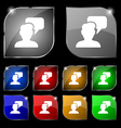 People talking icon sign Set of ten colorful vector image