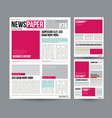 tabloid newspaper design template images vector image
