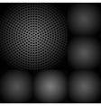 Set of dark metallic textures vector image