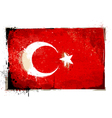 Grungy Turkey flag vector image