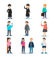 people in university set vector image