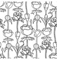 graphic pattern of buds vector image