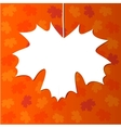 abstract design with maple leaf vector image
