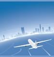 boston skyline flight destination vector image