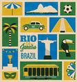 Retro Rio Icons vector image vector image