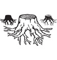 Tree stump design vector image vector image
