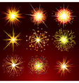 brightly fireworks isolated design elemen vector image