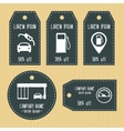 Gas station discount gift tags from chalky texture vector image