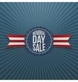 Memorial Day Sale greeting Badge and Ribbon vector image
