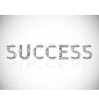 Success built on failures vector image