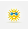 Sun with sunglasses bright icon vector image