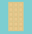 White chocolate bar vector image