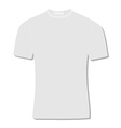 White t-shirt vector image