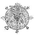 coloring spring mandala vector image