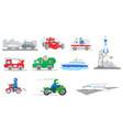 set of tranportation vehicles vector image