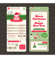 Christmas Card Design Boarding Pass Ticket vector image