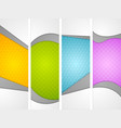 Abstract wavy corporate vertical banners vector image vector image