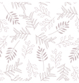 leaves and berry seamless brown pattern vector image vector image