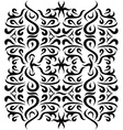 Ornaments Wall Silhouette vector image vector image