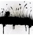 Grunge grass silhouette vector