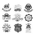 Car Wash Vintage Stamp Collection vector image