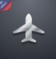 Airplane Plane Travel Flight icon symbol 3D style vector image