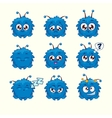 Blue character vector image
