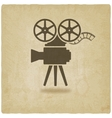 camera old background vector image