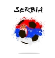 Flag of Serbia as an abstract soccer ball vector image