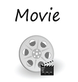 movie sign vector image