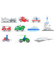 set of tranportation vehicles vector image