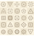 Set ornament logos design company vector image