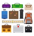 Traveling Luggage icons vector image