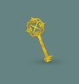 Vintage Golden Key vector image