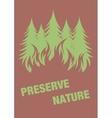 Warning poster Protect the environment vector image