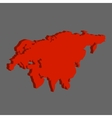 Eurasia on gray background vector image