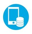 symbol optimization server smartphone database vector image