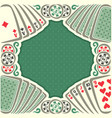 vintage poker table vector image