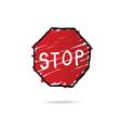 stop sign cartoon vector image