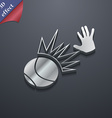 Basketball icon symbol 3D style Trendy modern vector image