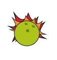 drawing ball bowling strike design vector image