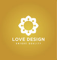 love design abstract colors on a gold background vector image