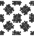 Puzzles icon pattern vector image