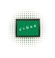 School chalkboard comics icon vector image