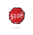 stop sign cartoon vector image
