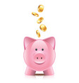 object piggy bank vector image